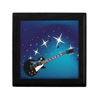 Guitar - blue gift box