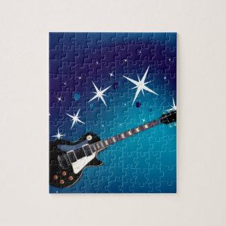Guitar - Blue Jigsaw Puzzle