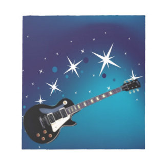Guitar - blue notepad