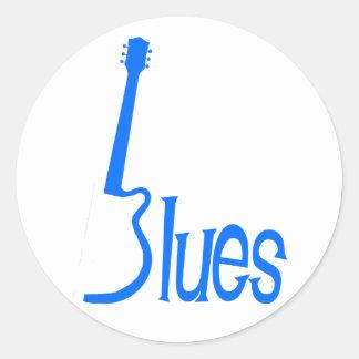 Guitar Blues Round Sticker