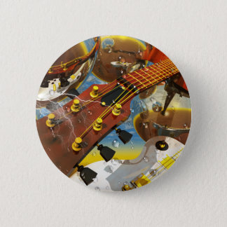 Guitar by Lenny art 6 Cm Round Badge