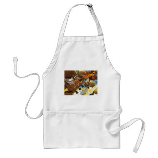 Guitar by Lenny art Adult Apron