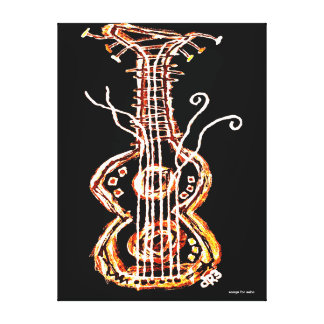 guitar stretched canvas prints