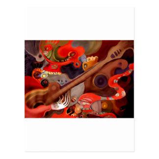 Guitar Chaman by Albruno* Postcard