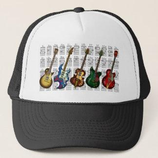 Guitar & chord2 trucker hat