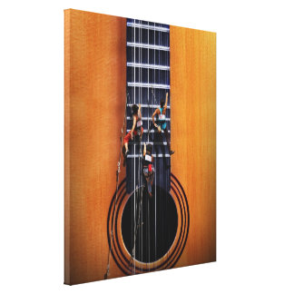 Guitar Climbers Wrapped Canvas Canvas Prints