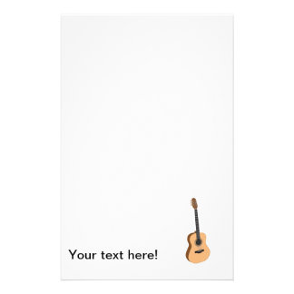 Guitar clipart personalized stationery