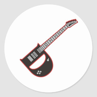 Guitar D Sticker