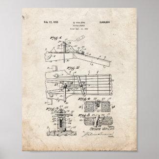 Guitar Damper Patent - Old Look Poster