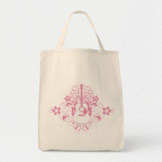 Guitar Design Grocery Tote Bag