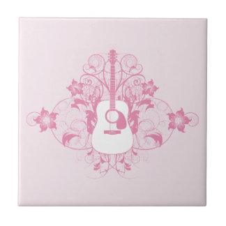 Guitar Design Small Square Tile