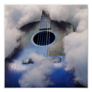 guitar dream  blue POSTER