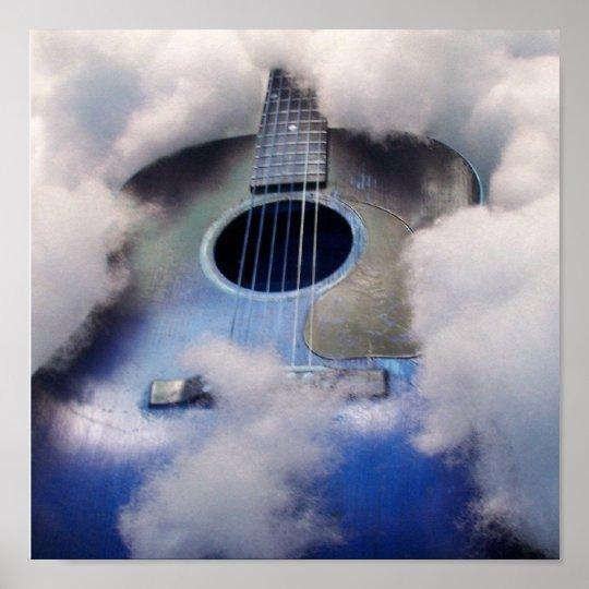 guitar dream blue POSTER
