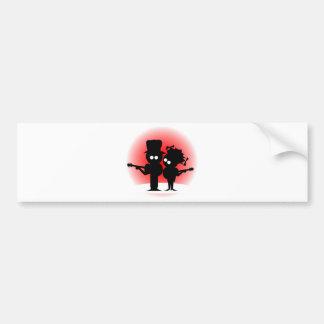 Guitar Duo Bumper Sticker
