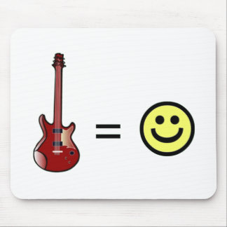 Guitar Equals Happiness Mouse Pad