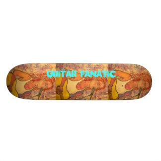 Guitar Fanatic Girl 19.7 Cm Skateboard Deck