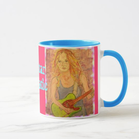 Guitar Fanatic Girl Mug