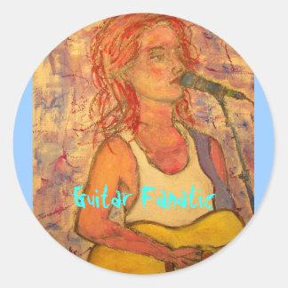 Guitar Fanatic Girl Stickers