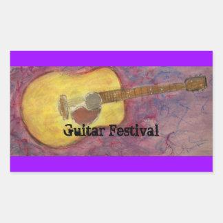 Guitar Festival Rectangle Sticker
