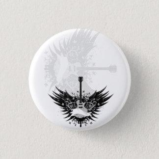 Guitar fishing rod (guitars angels) 3 cm round badge