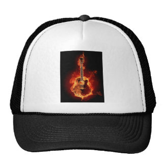 Guitar Flames Cap