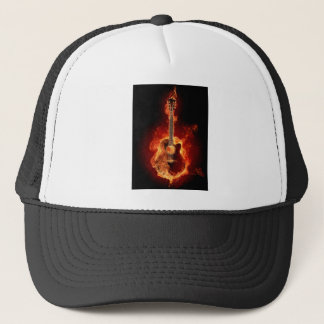 Guitar Flames Trucker Hat