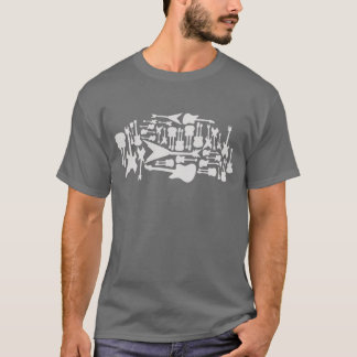 Guitar Ghosts (grey) T-Shirt