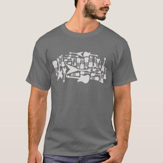 Guitar Ghosts (grey) T-Shirt