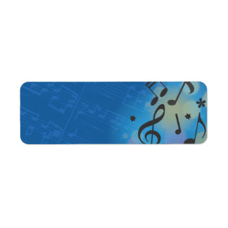 Guitar Girl Bat Bar Mitzvah Return Address Label