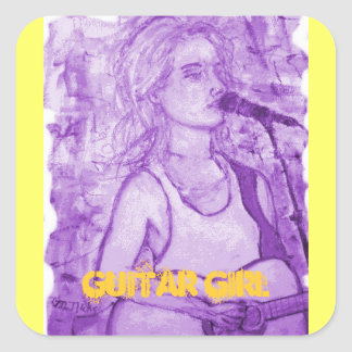 guitar girl stickers