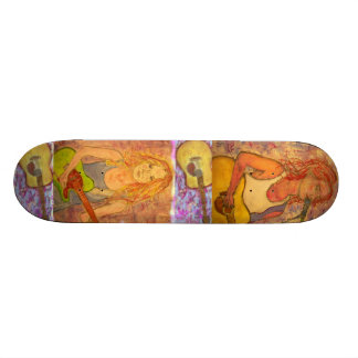 Guitar Girls Art Skateboard