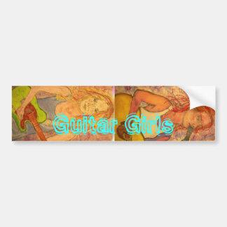 Guitar Girls Bumper Sticker