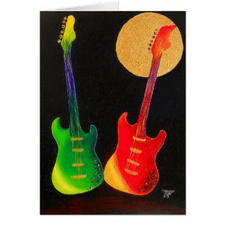 Guitar Glitter Greeting Card