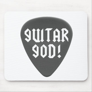 Guitar God with Pick Mouse Pad