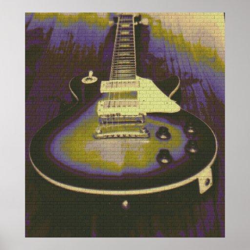 Guitar Graffiti Poster