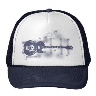 Guitar Graphic Blu Hat