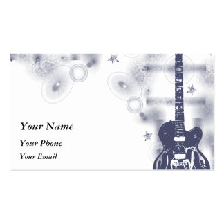 Guitar Graphic Blu Profile Card Business Card Templates