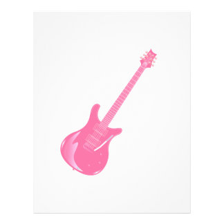 guitar graphic light pink solid flyer design