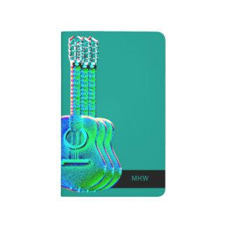 Guitar Graphic Optional Monogram Initials Journal