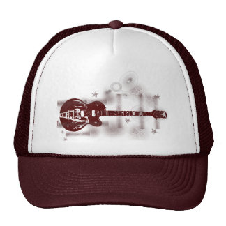 Guitar Graphic Red Hat