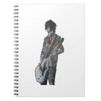 Guitar Guy Pencil Art Notebook
