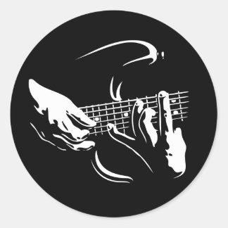 guitar-hands-DKT Round Sticker