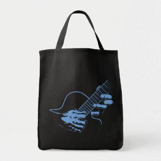 Guitar Hands II -blu Tote Bag