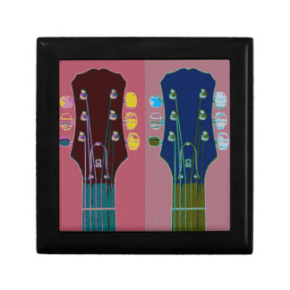Guitar Headstock Pop Art Gift Box