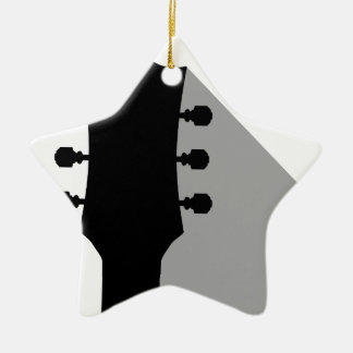Guitar Headstock With Shadow Christmas Ornament