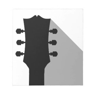 Guitar Headstock With Shadow Notepad