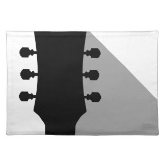 Guitar Headstock With Shadow Placemat