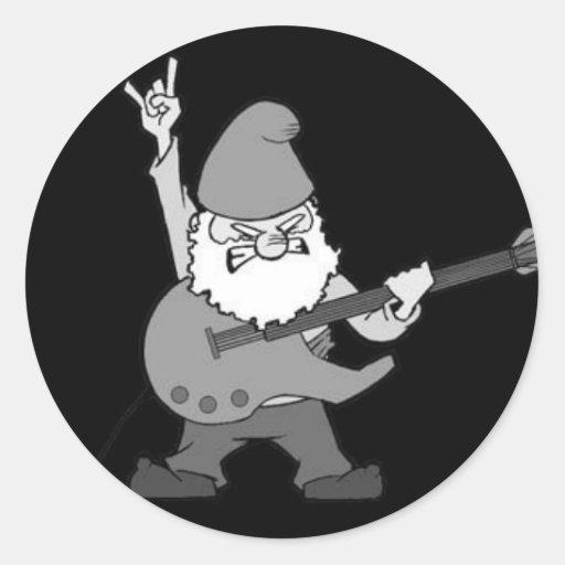 Guitar Hero Gnome Sticker