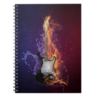 Guitar Ice and Fire Spiral Note Book