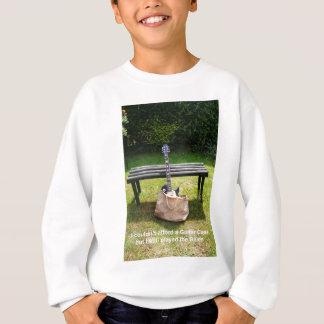 Guitar in a bag design t-shirts